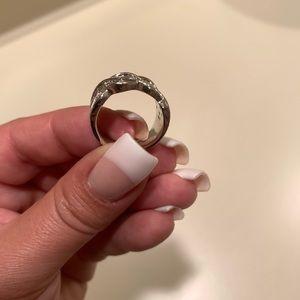 Jewelry - Silver CZ Diamond Fashion Ring